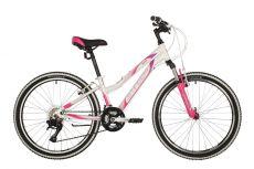 "Велосипед STINGER 24"" LAGUNA белый, алюминий, размер 12"", MICROSHIFT"