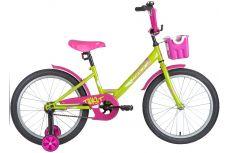 """Велосипед NOVATRACK 20"""" TWIST зелёный, тормоз нож, крылья корот, корзина, защита А-тип"""