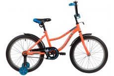 "Велосипед NOVATRACK 20"" NEPTUNE оранжевый, тормоз нож, крылья корот, защита А-тип"
